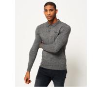 Herren Gestricktes Orange Label Polohemd Grey