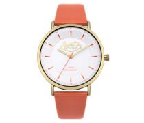 Damen Oxford Pastel Pop Armbanduhr koralle