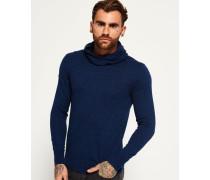 Herren Orange Label Strick-Hoodie marineblau