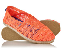 Damen Jetstream Lace Espadrilles koralle