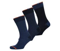 Damen City Socken im 3er-Pack blau
