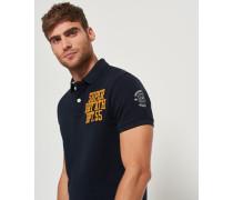 Herren Klassisches Superstate Polohemd mit kurzen Ärmeln marineblau