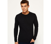Herren Vintage Logo Emboss Shirt schwarz