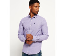 Herren Cut Away Collar Hemd lila