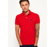 Herren Classic Piqué Polo-Shirt rot