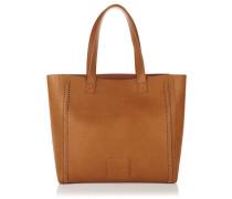 Damen Cross Stitch Amelia Tote Bag braun
