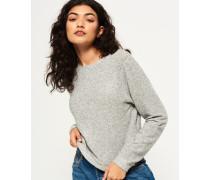 Damen Super Soft Pullover mit Rundhalsausschnitt hellgrau