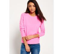 Damen Downtown Raglan-Strickpullover pink