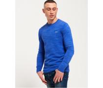 Herren Orange Label Pullover mit Rundhalsausschnitt blau