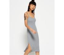 Damen Slip Dress in Midilänge grau