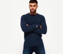 Herren Orange Label Sweatshirt mit Rundhalsausschnitt marineblau