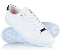 Damen Super Sleek Logo Low-Top Sneaker weiß