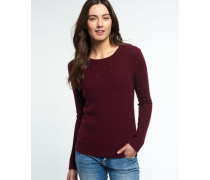 Damen Luxe Mini Cable Pullover lila