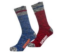 Herren Big Mountaineer Socken im 2er-Pack bunt