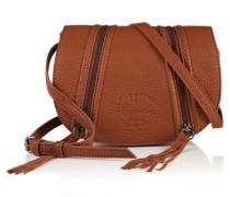 Damen Zipped Saddle Tasche braun
