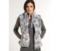 Damen Antarctic Faux Fur Weste grau