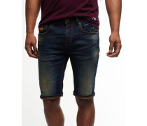 Herren Officer Denim Shorts marineblau