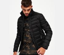 Herren Fuji Tweed-Jacke mit Doppelreißverschluss schwarz