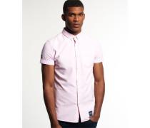 Herren Kurzärmliges Ultimate Oxford Hemd pink