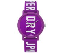 Damen Campus Fluro Block Armbanduhr lila