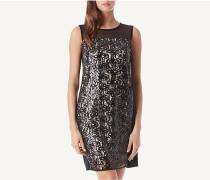 Kleid mit Netz-Einsatz aus Pailletten