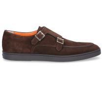 Monk Schuhe 16384 Veloursleder