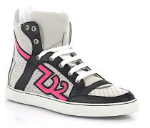 Sneaker High Top K502 Nappaleder schwarz Nubukleder