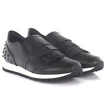Sneaker Slip On Sportivo Leder Fransen Noppen