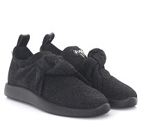 Sneaker Slip On NATY Stoff Glitzer