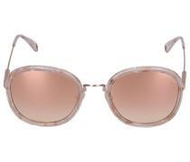 Sonnenbrille Oval 236244 Metall Acetat rosé