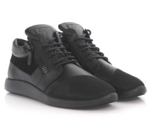 Sneakers Runner mid top Leder Veloursleder