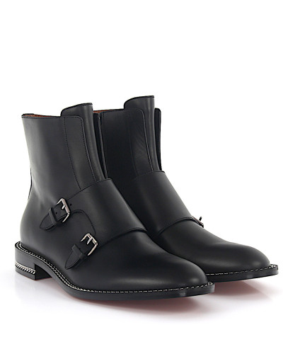 Stiefeletten Boots Monk Kalbsleder Kettenverzierung