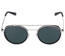 Sonnenbrille Round 043212 Metall Acetat schwarz