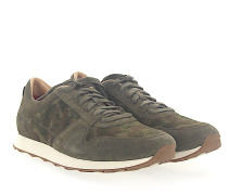 Sneaker TRIGO Veloursleder khaki camouflage