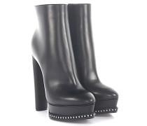 Ankle Boots LOVECALF Plateau Leder Perlen