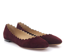 Ballerinas Lauren Veloursleder bordeaux