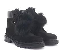 Stiefeletten Boots Elba Flat Veloursleder Fell