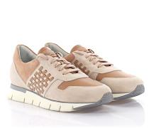 Wedge Sneakers Y60025 Leder Veloursleder rosa