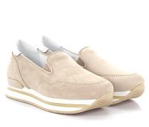 Keilsneaker H222 Slip On Plateau Veloursleder