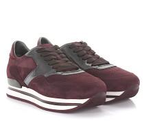 Sneaker H222 Nuovo Sportivo Veloursleder bordeaux Lackleder