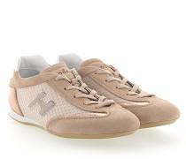 Sneaker OLYMPIA Veloursleder Stoff Leder metallic