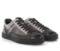 Sneakers R141 Leder Veloursleder schwarz grau