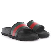 Sandalen Gummi -Details grün rot