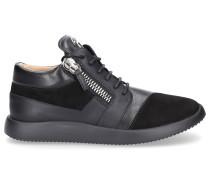 Sneaker high RUNNER Kalbsleder Logo silber