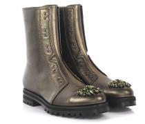 Combat Boots Leder military mit Kristallen