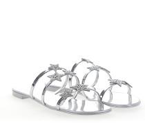 Sandalen HARMONIE Leder silber metallic Stern-Patch