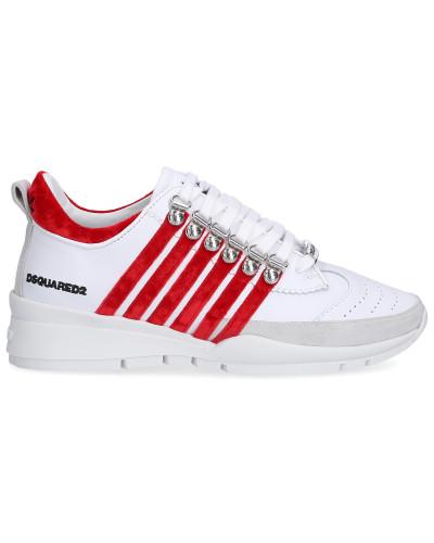 Sneaker low 251 Kalbsleder Samt Logo bordeaux