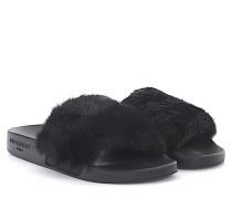 Sandalen Plate Slide Kunststoff Nerz