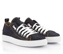 Sneakers Basquettes Canvas Denim