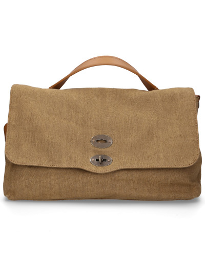 Handtasche CANVAS canvas logo kahki